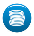 tire fitting icon blue vector image vector image