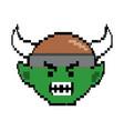 troll cartoon with viking helmet design vector image