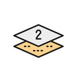 two-layer napkin paper flat color line icon vector image vector image