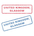 united kingdom glasgow textile stamps vector image vector image