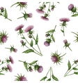 Watercolor seamless pattern with milk Thistle vector image vector image
