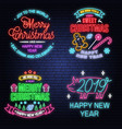 we wish you a very sweet christmas and happy new vector image
