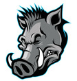 Wild boar head mascot vector | Price: 1 Credit (USD $1)