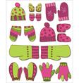 Winter gloves set vector image