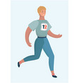 woman running sports jogging marathon vector image