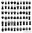 women outerwear and dresses on a white background vector image vector image
