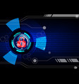 abstract security digital technology background vector image