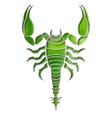 Bright scorpion zodiac Scorpio sign vector image