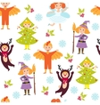 Carnival kids seamless pattern vector image