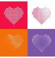 Dotted heart vecot pattern vector image