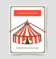 Sketch circus poster in vintage style vector image