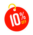 10 percent off red round tag sale template
