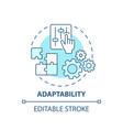adaptability concept icon