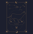 astrological zodiac sign constellation and symbol vector image vector image
