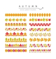 Autumn Leaves Pattern Brushes Set vector image vector image