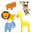 Baby safari animals vector | Price: 3 Credits (USD $3)