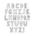 black and white ornamental alphabet coloring page vector image vector image