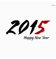 Calligraphy 2015 sign vector image vector image