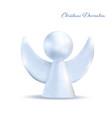 christmas white angel isolated on white background vector image