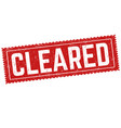 cleared sign or stamp vector image