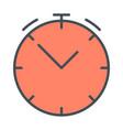 clock line icon stopwatch linear symbol vector image vector image