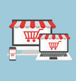 computer concept online shopping vector image