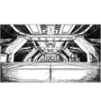 concept art cartoon drawing of abstract sci fi vector image
