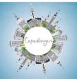 Copenhagen Skyline with Gray Landmarks vector image vector image