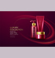 cosmetics products with luxury collection vector image