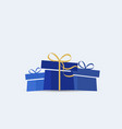 decorative christmas presents vector image vector image