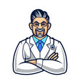 doctor character vector image vector image