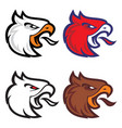 eagle head sport logotype vector image
