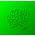 easter lettering background vector image