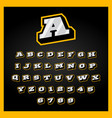 etro sport style alphabet a-z letters set and vector image