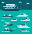 flat design boat set vector image vector image