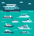 Flat design of boat set vector image