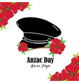 flowers design with hat soldier memorial vector image