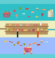 food products concept shopping in supermarket vector image vector image