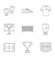 football icons set outline style vector image vector image