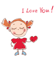 funny doodles girl vector image vector image