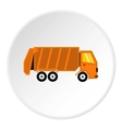 Garbage truck icon flat style vector image