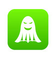 ghost icon digital green vector image