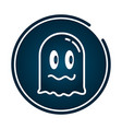 ghost video game vector image vector image