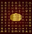 golden ornamental elements for design vector image vector image
