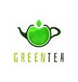 green tea logo template vector image vector image