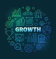 growth colored round outline vector image vector image