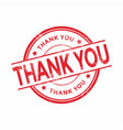 grunge rubber stamp with the text thank you vector image vector image