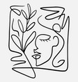 hand drawn abstract face