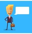 Handsome scandinavian businessman with briefcase vector image vector image