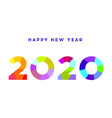 happy new year 2020 modern 2020 text design vector image